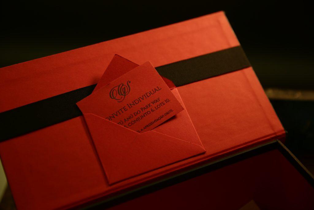 Caixa Convite Vermelha